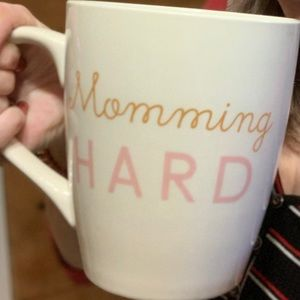 Giant coffee cup momming hard